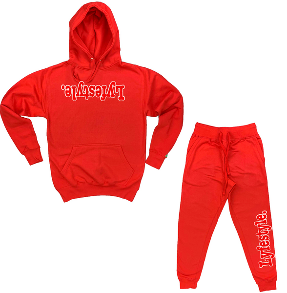 Red w/ White Lyfestyle Sweatsuit