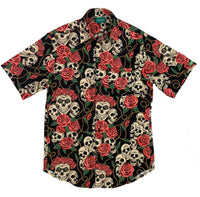 Skull & Roses Button-Up Shirt