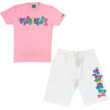 Pastel w/ Black White Lyfestyle Short Sets