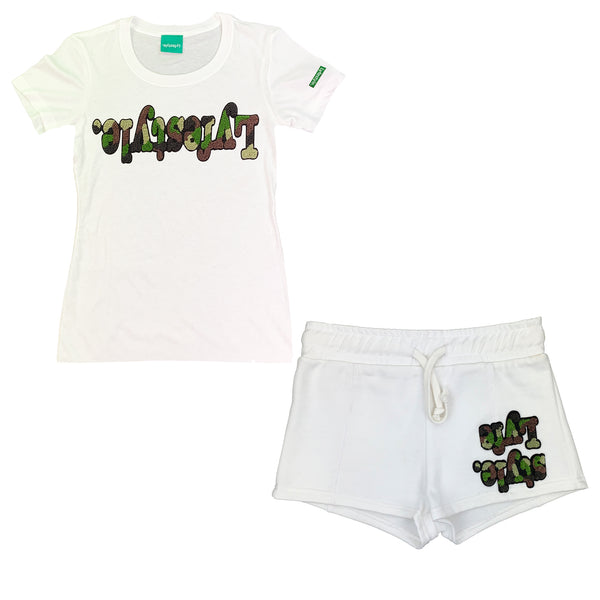 Womens Camo Lyfestyle Short Set