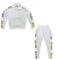 White Multicolor Lyfestyle Tracksuit