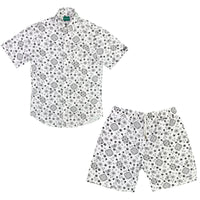 White Paisley Short Set
