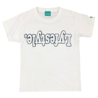Kids White w/ Black Lyfestyle Tee Shirt