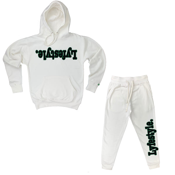 Black w/ Green Lyfestyle Sweatsuits