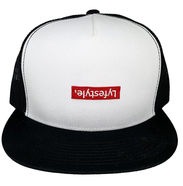 White & Black Lyfestyle Trucker Hat