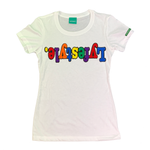 Womens White Multicolor Lyfestyle Tee