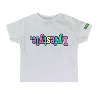 Toddlers White Pastel Lyfestyle Tees