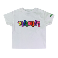Toddlers White Starburst Lyfestyle Tees