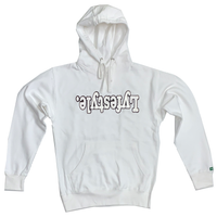White w/ Black Lyfestyle Hoodies