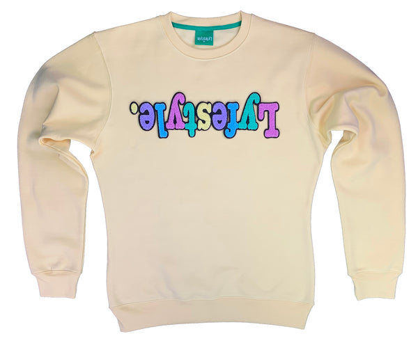 Womens Yellow Pastel Lyfestyle Sweatshirt