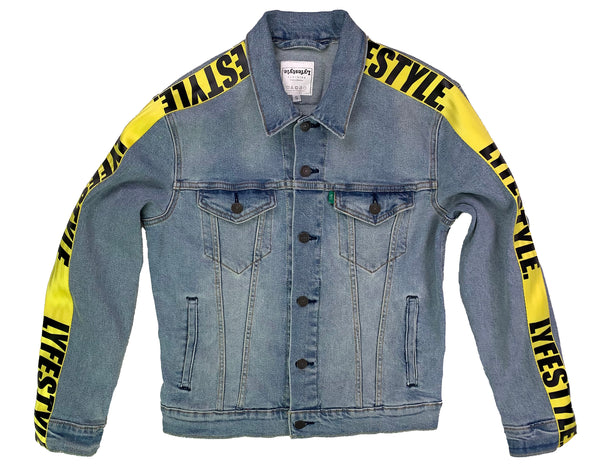 Yellow Lyfestyle Tape Jean Jacket