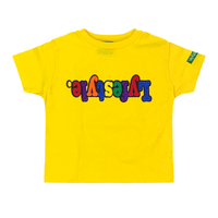 Toddlers Yellow Multicolor Lyfestyle Tee