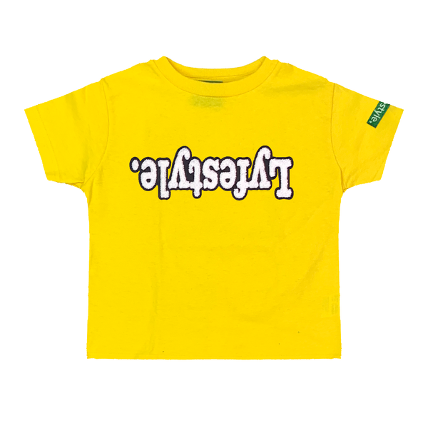 Toddlers Yellow White w/ Black Lyfestyle Tee