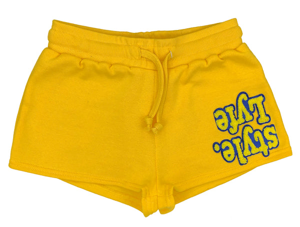 Womens Yellow w/ Blue Lyfestyle Shorts