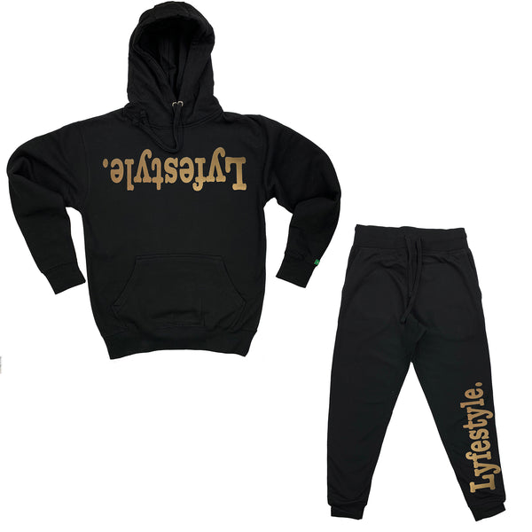 Metallic Gold Lyfestyle Sweatsuit