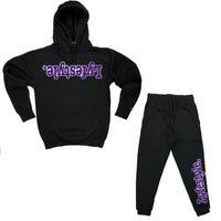 Purple w/ White Lyfestyle Sweatsuits