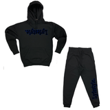 Black w/ Blue Lyfestyle Sweatsuits