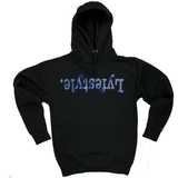 Blue Metallic Lyfestyle Hoodies