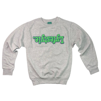 Electric Green w/ Blue Lyfestyle Sweatshirt