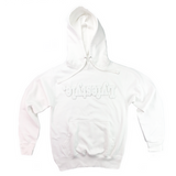 White on White Lyfestyle Patch Hoodie