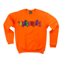 Women's Orange Starburst Lyfestyle Sweatshirt