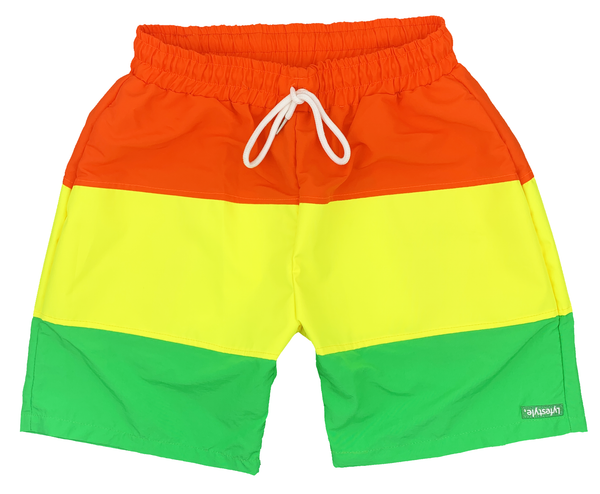 Orange/Yellow/Green Tricolor Shorts