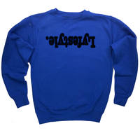 Black with Blue Lyfestyle Sweatshirts