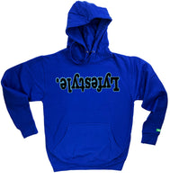 Black w/ University Blue Lyfestyle Hoodies