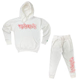 White w/ Red Lyfestyle Sweatsuits