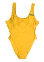 Yellow One-Piece Green Box Bathing Suit