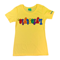 Womens Yellow Multicolor Lyfestyle Tee
