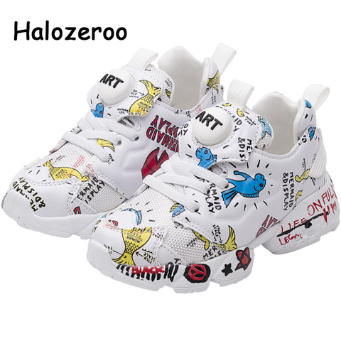 Spring Kids Pu Leather Shoes Baby Girls Sneakers - slipper shoes
