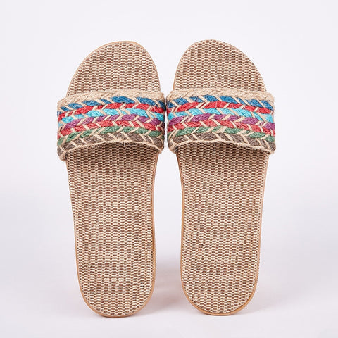 Flax house slippers for women - slipper shoes