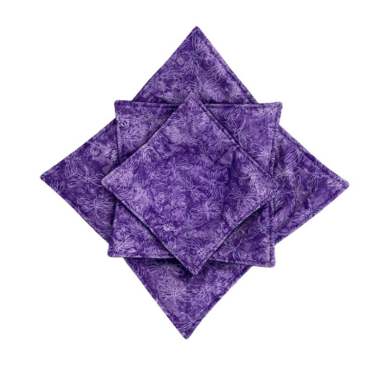 Microwave Bowl Cozy - Dragon fly - Purple
