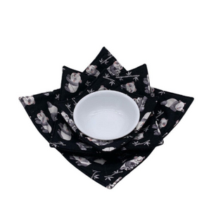 Microwave Bowl Cozy - Panda printed
