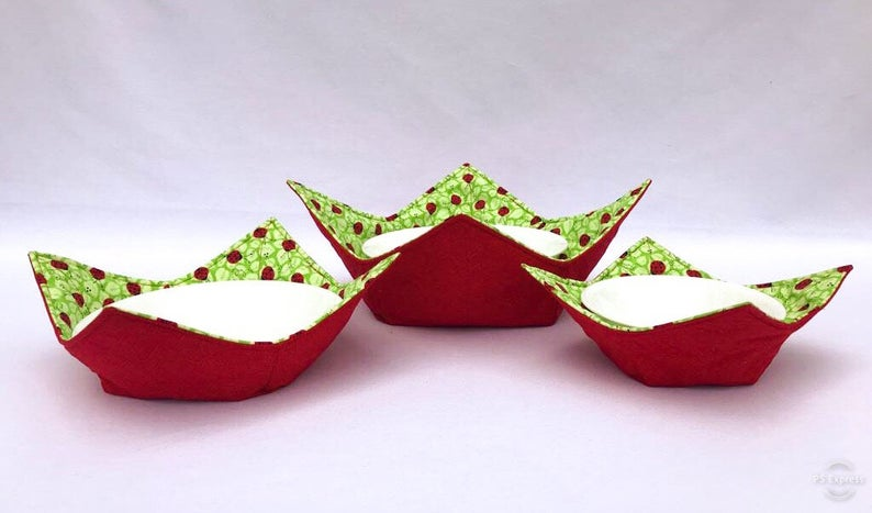 Microwave Bowl Cozy - Lady bug