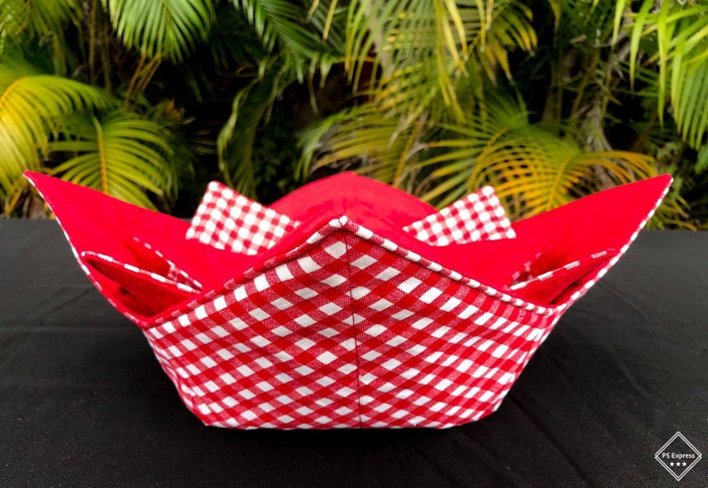 Microwave Bowl Cozy -  Red Square