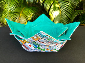 Microwave Bowl Cozy - License Plates