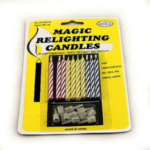 Funny Magic Relighting Birthday Candles (Pack of 20)