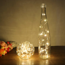 5m 50 LED Copper Wire String Light with Bottle Stopper for Glass Decoration Lamp