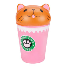 Slow Rising Squishy Coffee Cup Cat Toy
