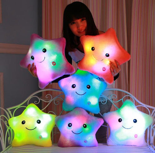 Luminous LED Light Up Star Plush Pillow