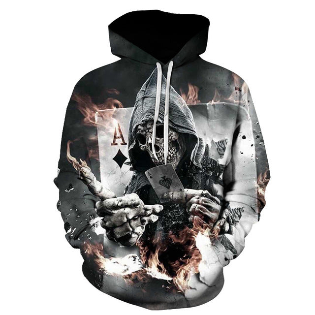 Grim Reaper Playing Card Hoodie