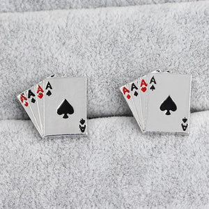 Four Aces French Cufflinks