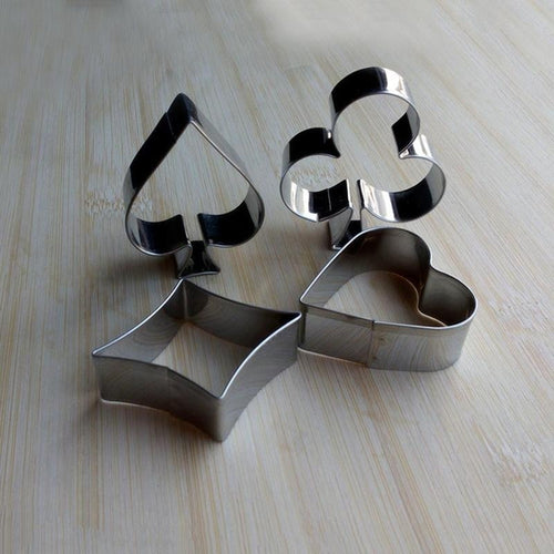 Stainless Steel Playing Card Suit Poker Cookie Cutters