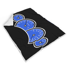 Blue GTO Gauges Blanket, Blanket - MotorClub Clothes