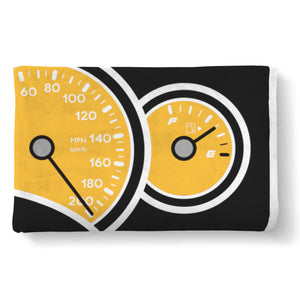 Yellow GTO Gauges Blanket, Blanket - MotorClub Clothes