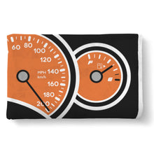 Orange GTO Gauges Blanket, Blanket - MotorClub Clothes