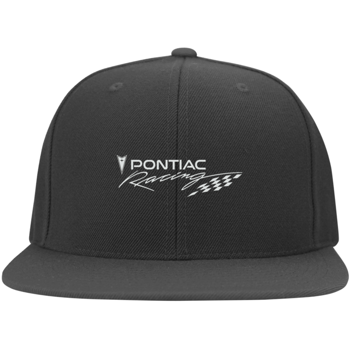 Pontiac Racing Flat Bill Twill Flexfit Cap, Hats - MotorClub Clothes