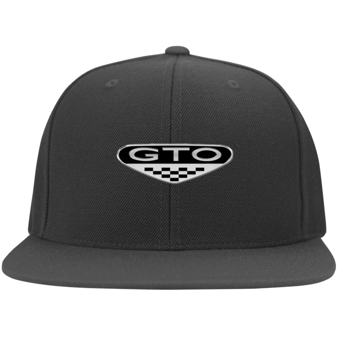 GTO Flat Bill Twill Flexfit Cap, Hats - MotorClub Clothes